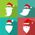 flat design vector santa claus face stock photo © nezezon