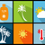 summer icons vector illustration stock photo © nezezon