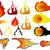 火の玉 · 炎 · 火災 · 抽象的な · 自然 · 光 - ストックフォト © nezezon
