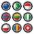 bayrak · oval · düğme · gümüş · yalıtılmış · beyaz - stok fotoğraf © nicemonkey