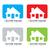 Rood · groene · onroerend · huis · icon · geïsoleerd - stockfoto © nicemonkey