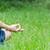 yoga · parco · giovani · femminile · persona - foto d'archivio © nickolya