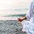 mulher · meditando · mar · serenidade · ioga - foto stock © Nickolya