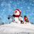 幸せ · 雪だるま · 帽子 · 雪 · 背景 · 冬 - ストックフォト © Nickolya