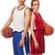 kosárlabda · játékosok · férfi · női · stúdiófelvétel · fehér - stock fotó © nickp37