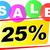 vinte · cinco · por · cento · imagem · de · vendas · botões - foto stock © nickylarson974