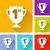 cup of winner icons stock photo © nickylarson974