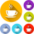 coffee cup icons stock photo © nickylarson974
