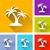 palm tree icons stock photo © nickylarson974