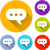 speech bubble icons stock photo © nickylarson974