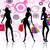 sziluett · három · vásárlás · lányok · vektor · nők - stock fotó © nickylarson974