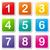 vettore · colorato · numeri · icone · bianco · segno - foto d'archivio © nickylarson974