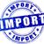 wektora · import · pieczęć · czerwony · ikona · działalności - zdjęcia stock © nickylarson974