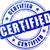 сертифицированный · печать · икона · знак · штампа · безопасной - Сток-фото © nickylarson974