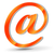 courriel · icône · orange · bleu · lettre · communication - photo stock © nickylarson974