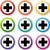 teken · iconen · illustratie · witte · kruis · achtergrond - stockfoto © nickylarson974