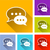speech bubbles icons stock photo © nickylarson974