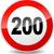 límite · de · velocidad · signo · ilustración · rojo · negro · diseno - foto stock © nickylarson974