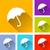 umbrella icons stock photo © nickylarson974