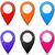 localização · gps · ícones · cidade · mapa · terra - foto stock © nickylarson974