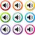 изолированный · звук · оратора · набор · цветами · вектора - Сток-фото © nickylarson974