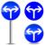 vector arrow blue sign stock photo © nickylarson974