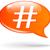 vector hashtag speech bubble stock photo © nickylarson974