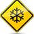 scivoloso · strada · vettore · segno · strada · neve - foto d'archivio © nickylarson974