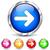 вектора · оранжевый · Стрелки · иконки · навигация · набор - Сток-фото © nickylarson974