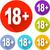 dix-huit · design · icône · illustration · isolé · signe - photo stock © nickylarson974