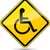 vector yellow disabled sign stock photo © nickylarson974