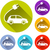 electric car icons stock photo © nickylarson974