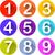 vetor · números · ícones · preto · branco · teia - foto stock © nickylarson974