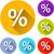 six percentage icons stock photo © nickylarson974