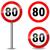 közlekedési · tábla · sebességhatár · 30 · km · forgalom · szabadság - stock fotó © nickylarson974
