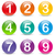 Vector colored numbers icons stock photo © nickylarson974