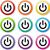 電源 · ボタン · 色 · コンピュータ · デザイン - ストックフォト © nickylarson974