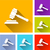 justice hammer icons stock photo © nickylarson974