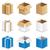 ayarlamak · karton · kutuları · 3D · farklı · yalıtılmış - stok fotoğraf © nickylarson974