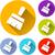 penseel · groene · vector · icon · knop · internet - stockfoto © nickylarson974