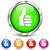 round and chrome thumb icons stock photo © nickylarson974
