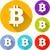 bitcoin · valuta · kleurrijk · iconen · rechthoek - stockfoto © nickylarson974