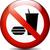 geen · fast · food · label · teken · verboden · medische - stockfoto © nickylarson974