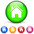 onroerend · cirkel · iconen · witte · huis · web - stockfoto © nickylarson974
