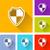 botão · projeto · segurança · proteção · computador - foto stock © nickylarson974