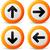 teken · omhoog · vector · website · knoppen · papier - stockfoto © nickylarson974