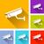 vídeo · iconos · seis · colorido · diseno - foto stock © nickylarson974
