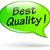vector green quality speech bubble stock photo © nickylarson974