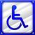 upośledzony · ikona · wektora · stylu · symbol · niebieski - zdjęcia stock © nickylarson974