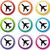 airport icons stock photo © nickylarson974